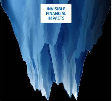 Graphique Iceberg bas de l'impact sur la cybersécurité